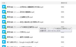 开始制作Google Analytics视屏教程
