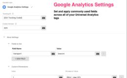 Googele Tag Manager中的谷歌分析设置变量