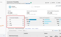 Google Analytics中的转化率预测报告