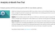 Adobe Analytics 6个月免费试用