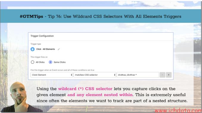 用通配符CSS选择器定位触发器