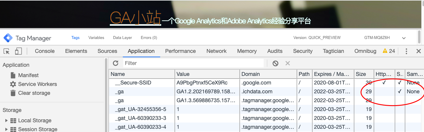 Google Analytics设置cookieFlags